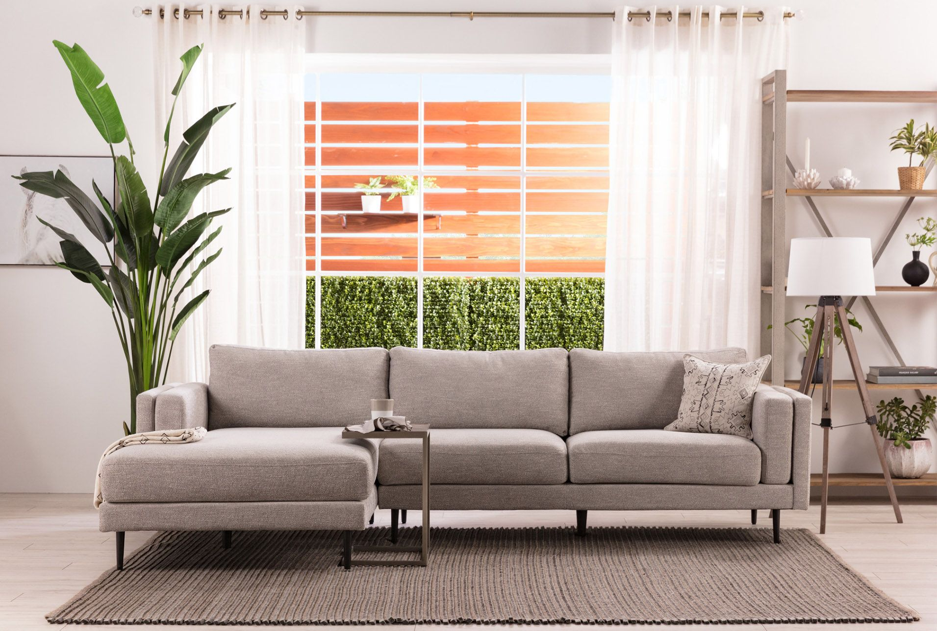 Lucy Grey Sofa Modern White Living Room Living Spaces Furniture Gray Sofa Styling