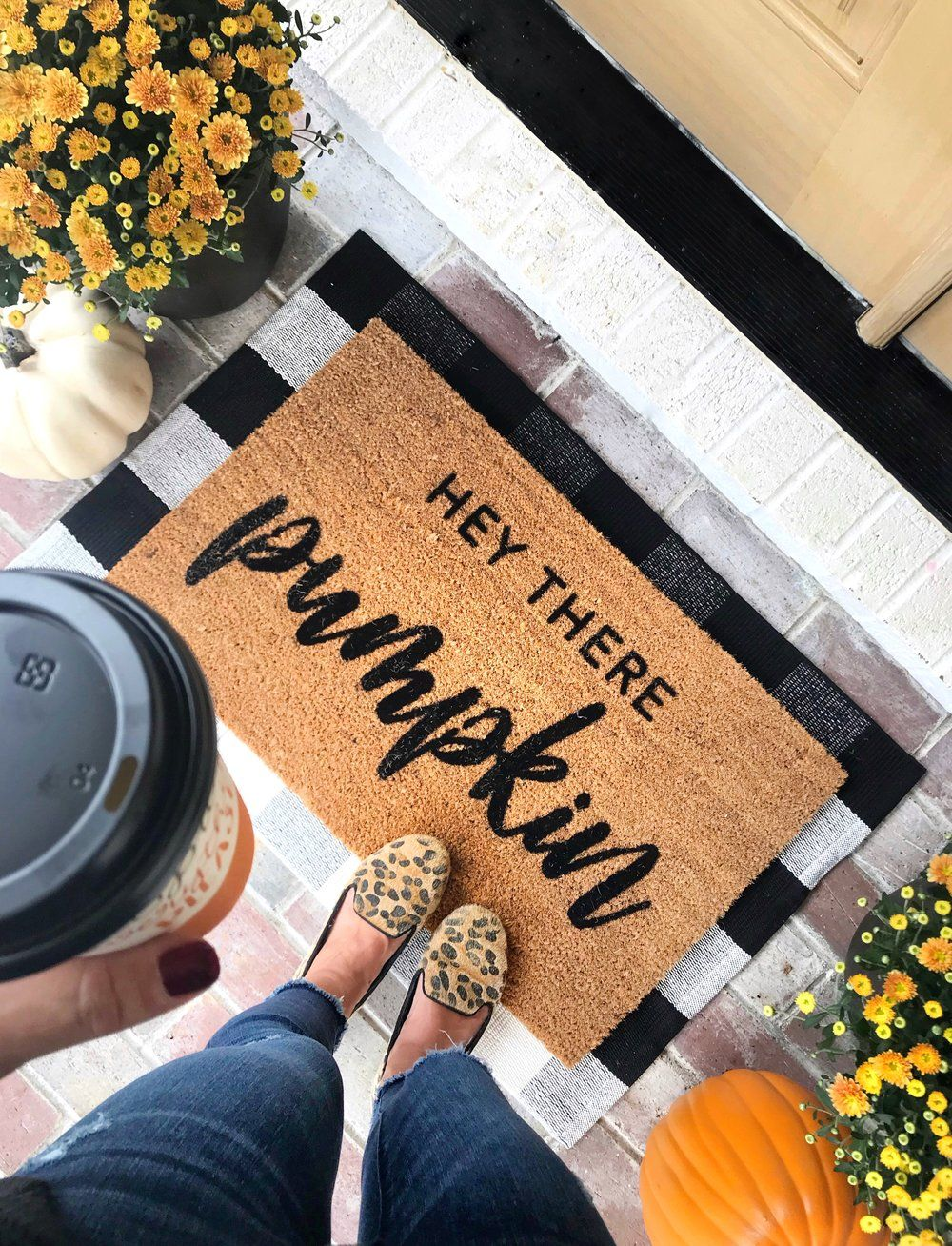 6 Tricks For A Pretty Fall Porch On A Budget - Chrissy Marie Blog