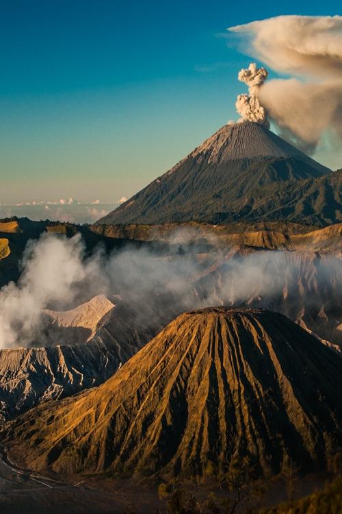 Mount Bromo Java Indonesia Pemandangan Gunung Berapi Dan Taman Nasional