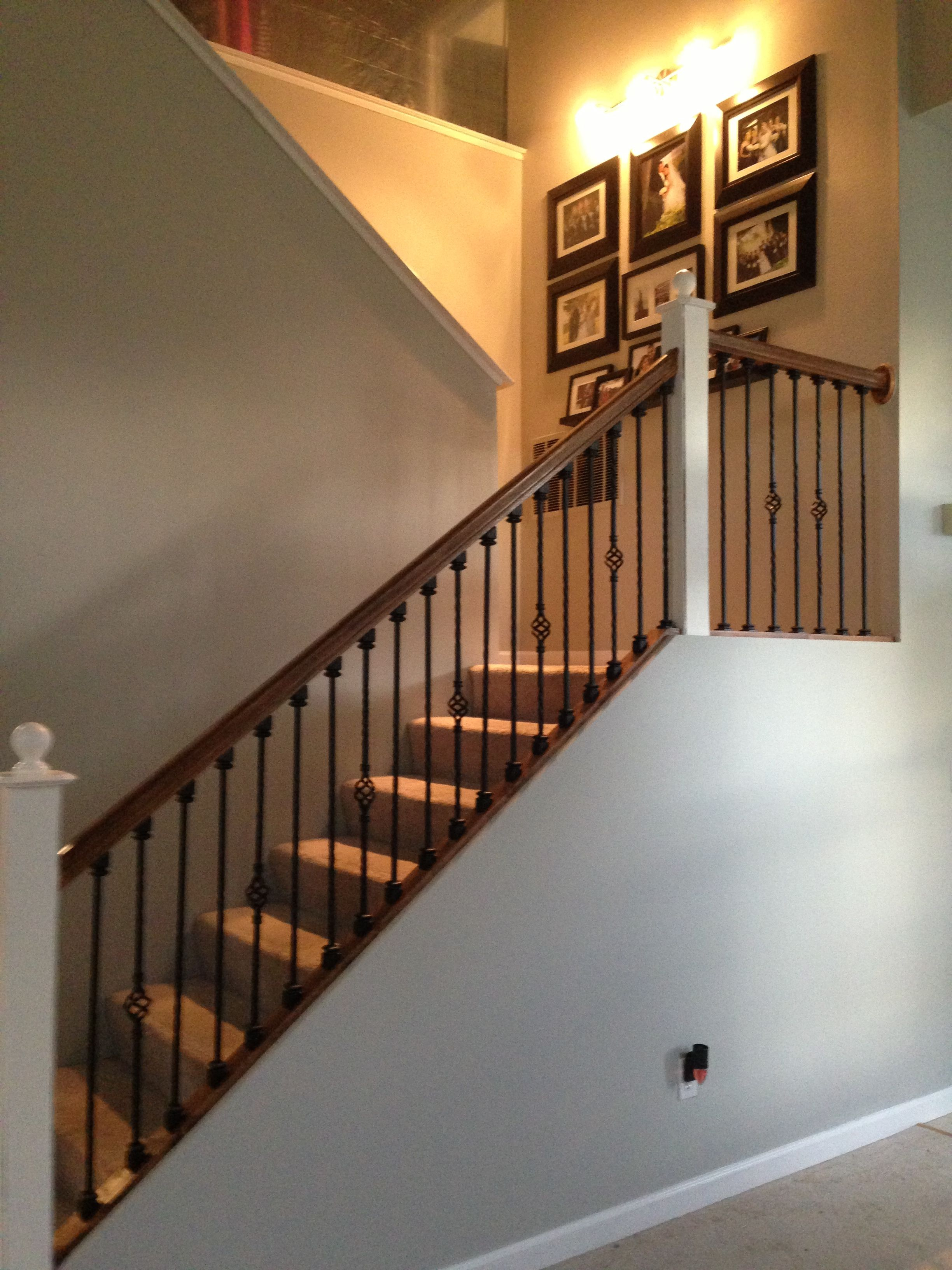 Diy Staircase Upgrade Stripped And Stained Handrail Replace Wooden Baers
