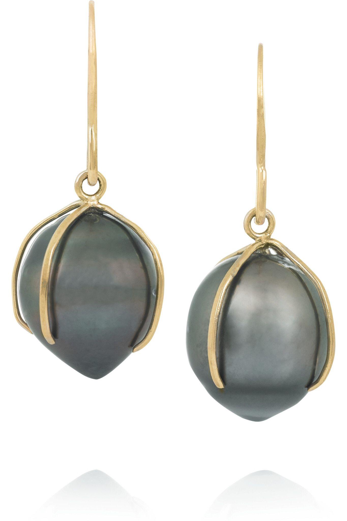 MELISSA JOY MANNING 14-karat gold pearl earrings $515 http://www.net-a-porter.com/products/514543