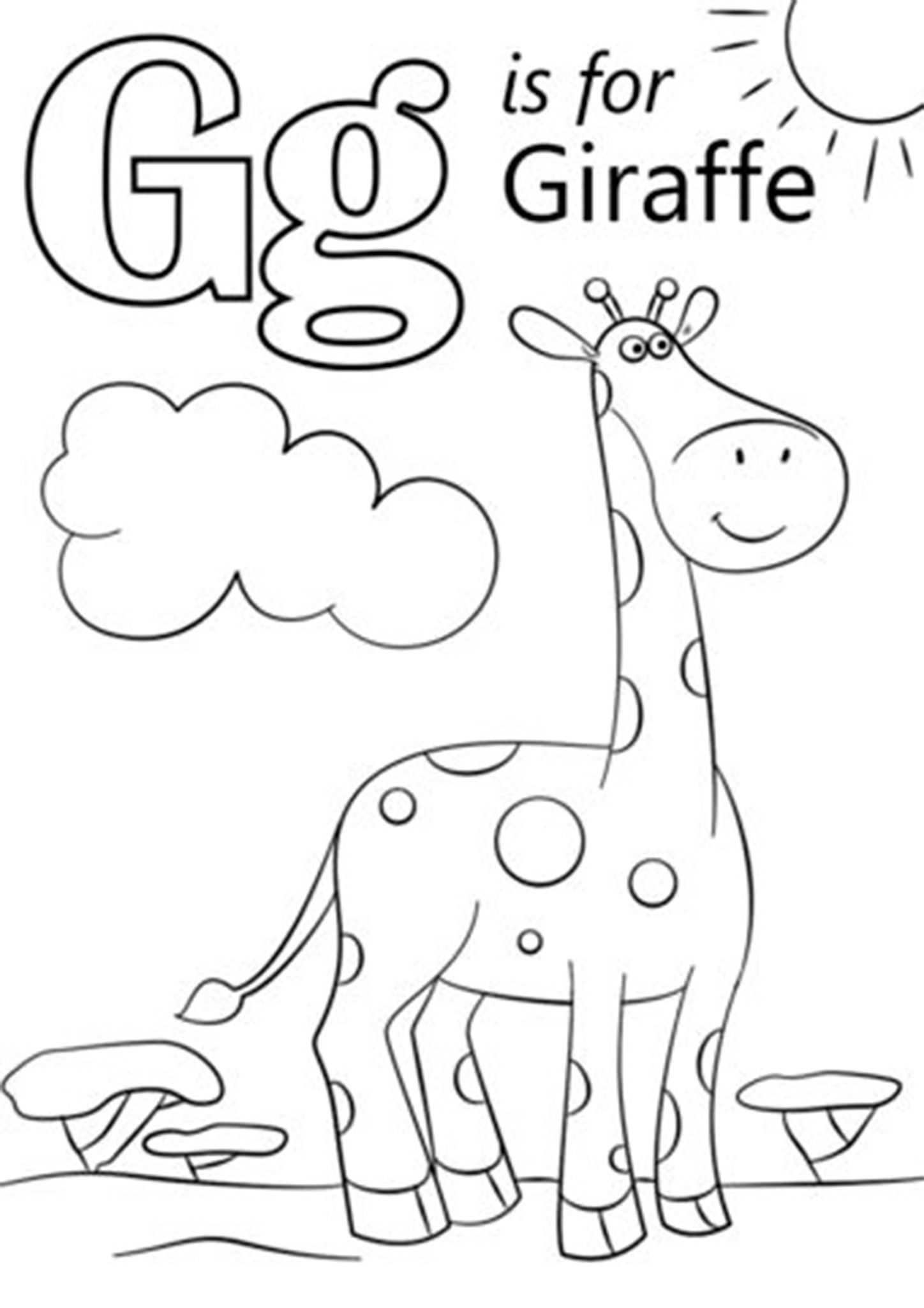 Free Easy To Print Giraffe Coloring Pages Abc Coloring Pages Giraffe Coloring Pages Preschool Coloring Pages
