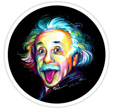 Albert Einstein Sticker By Stonemask Print Stickers Sticker Art Albert Einstein