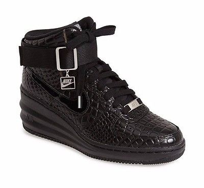 nike wmns lunar force 1 sky hi prm black crocodile