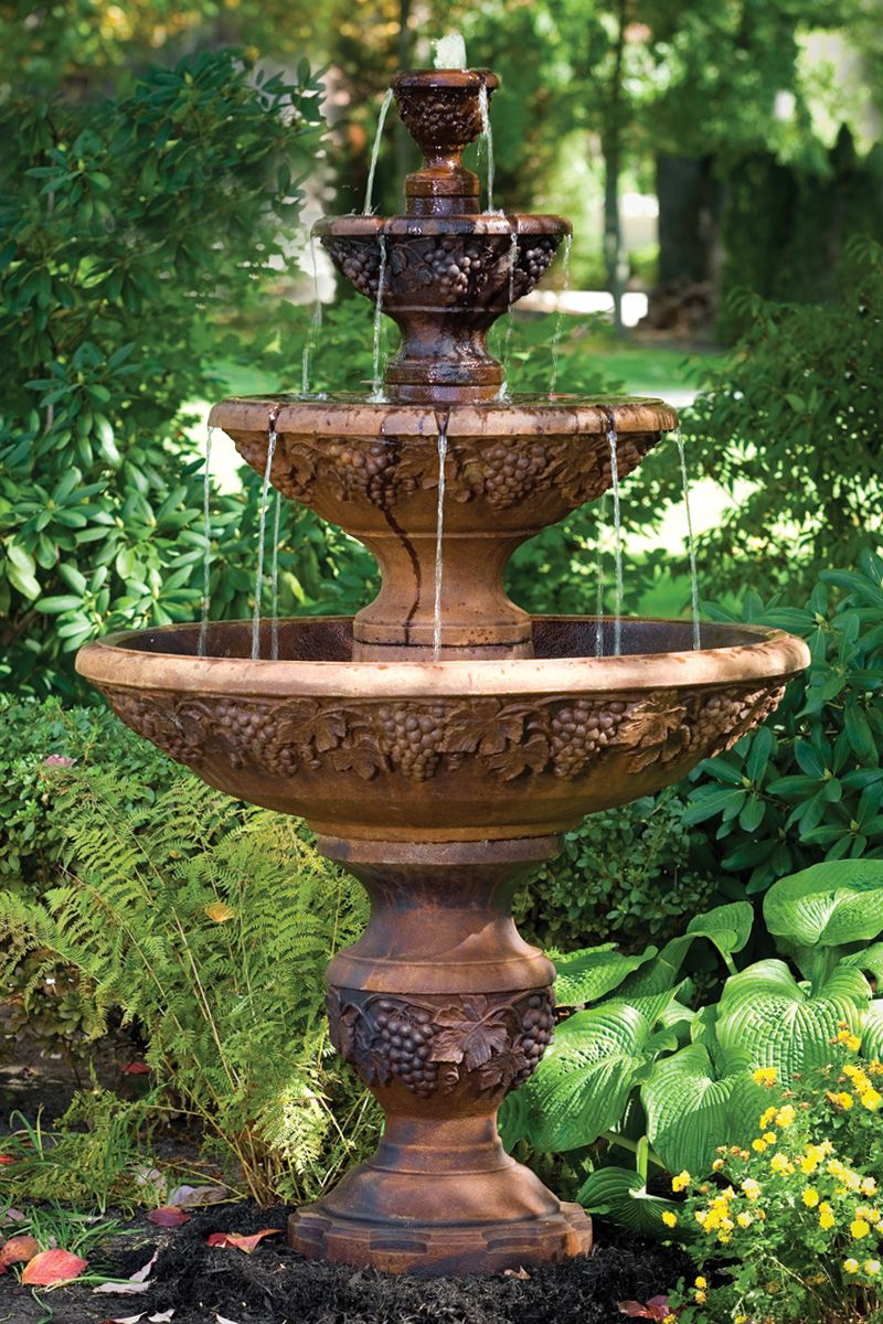 """78"""" four tier sonoma fountain"""
