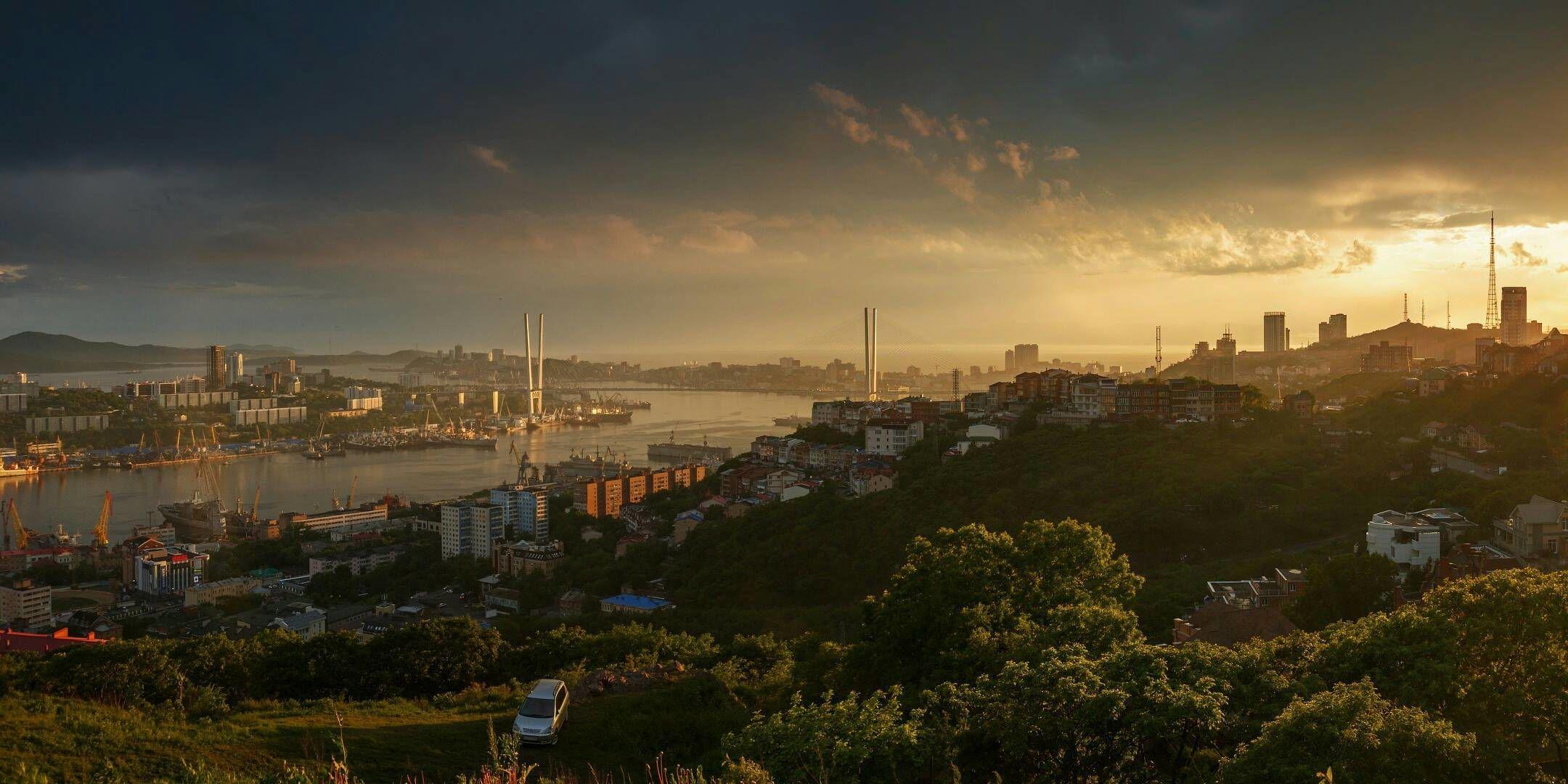 рыжая владивосток панорамные фото города город делится