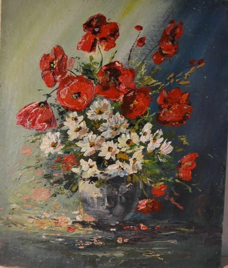 Poppies In Vase By Mj Milbrandt Watercolor Floral Mohnblume Mohn Blumen