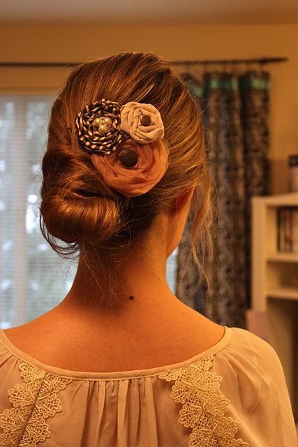 Easy Hair Bun with Twists.  Looks slightly different from this picture, but still pretty.