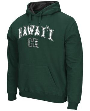 Colosseum Men's Hawaii Warriors Arch Logo Hoodie - Green L