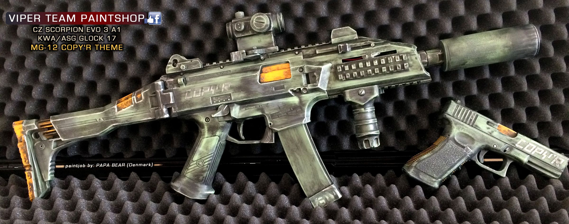 Airsoft Guns Danmark paintjob from papa bear (viper team paintshop) in denmark .. check