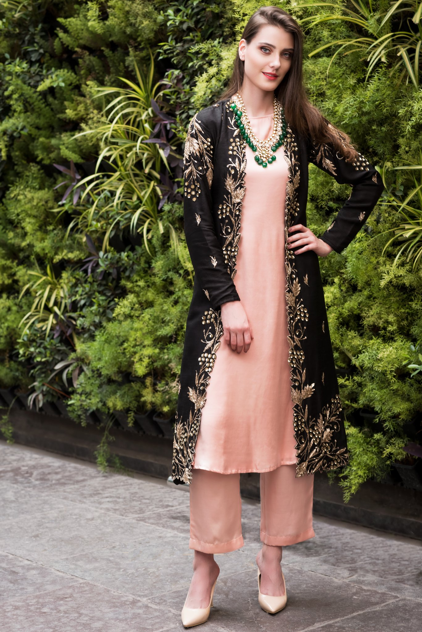 Details about  /India Pakistan Round Neck Drees Traditional Green Casual Wear For Women Kurta