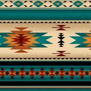 Native Saddle Blanket Turquoise Native American Decor
