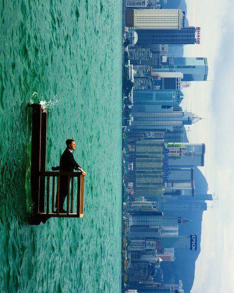 """นิทรรศการภาพถ่าย """"โลกตะแคง"""" (The Upside Down World of Philippe Ramette)    Read More: www.portfolios.ne..."""