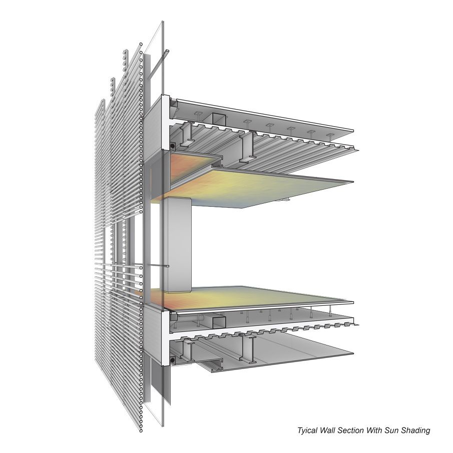 Renzo Piano S Building Workshop Detail For New York Times Hq Facade Design Architectural Section Architecture Details
