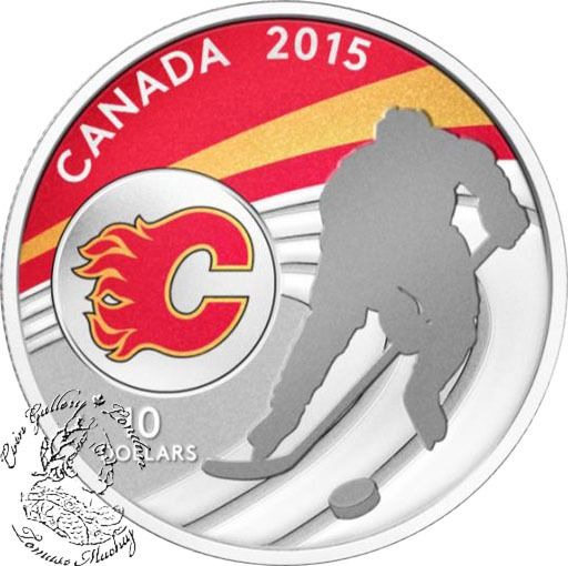 Coin Gallery London Store - Canada: 2015 $10 Calgary Flames Silver Coin, $74.95