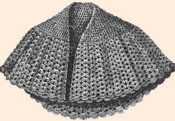 crochet shawl pattern crochet cape free vintage crochet. Black Bedroom Furniture Sets. Home Design Ideas