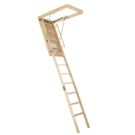 Centrury Windsor 10ft 4in Wooden Attic Stairway Bet 100 Attic Ladders Ace Hardware Attic Ladder Stairways Ladder
