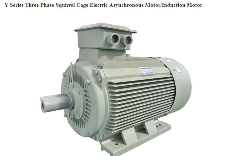 Y Series Three Phase Squirrel Cage Electric Asynchronous Motor Induction Motor