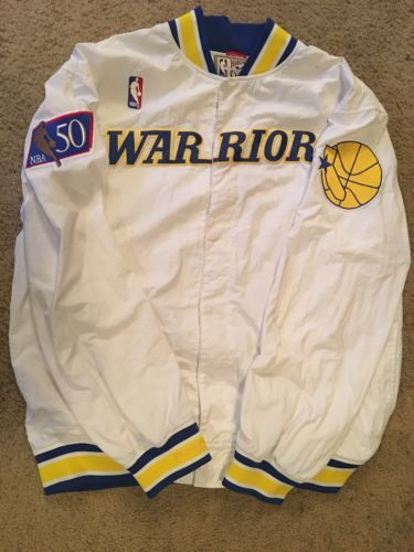 online store fa737 35f61 Size-L-48-Golden-State-Warriors-1996-97-Mitchell-amp-Ness-NBA-Warm-Up-Jacket