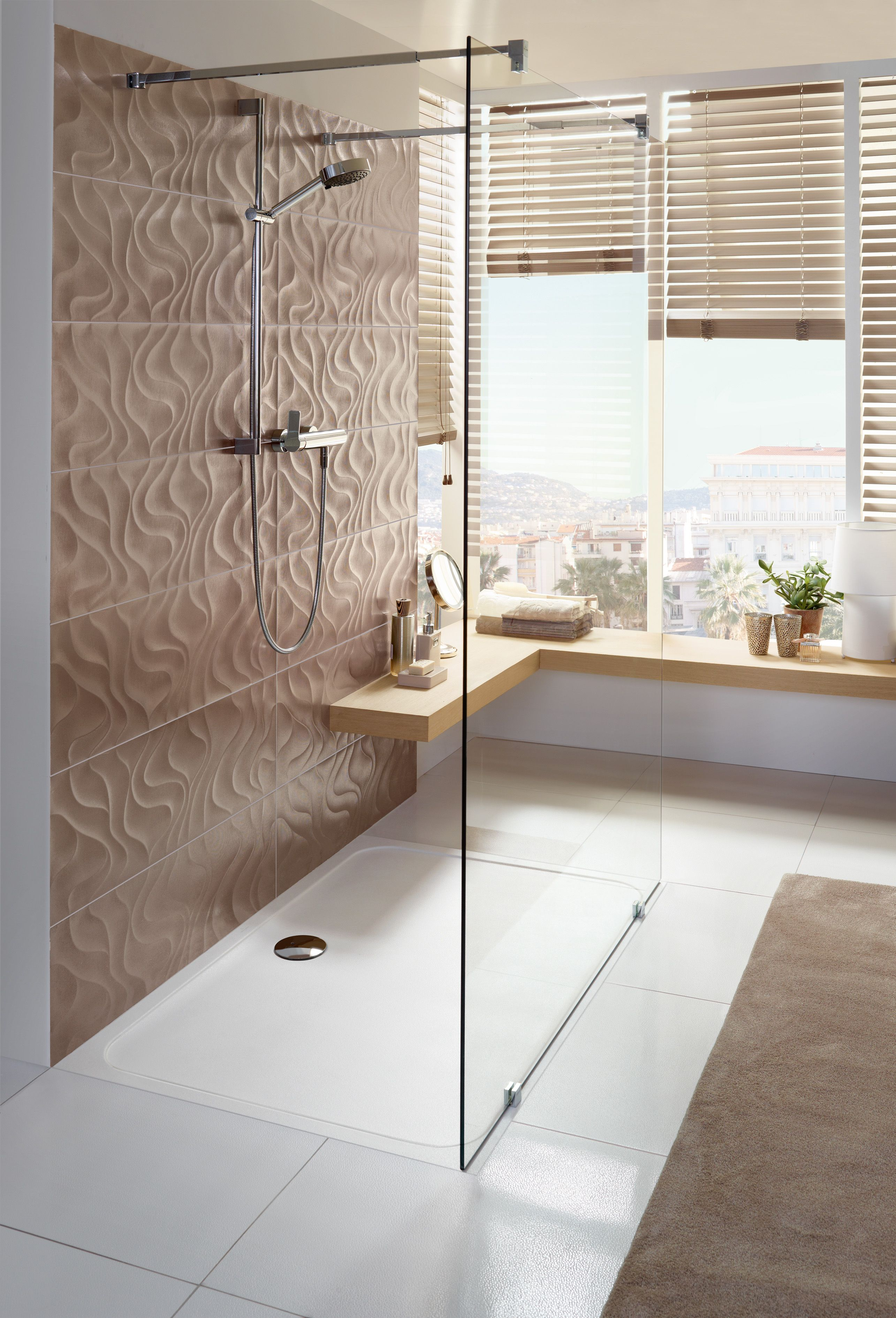 warm colors bright bathroom flat shower tray does this come close to your dream bathroom www. Black Bedroom Furniture Sets. Home Design Ideas
