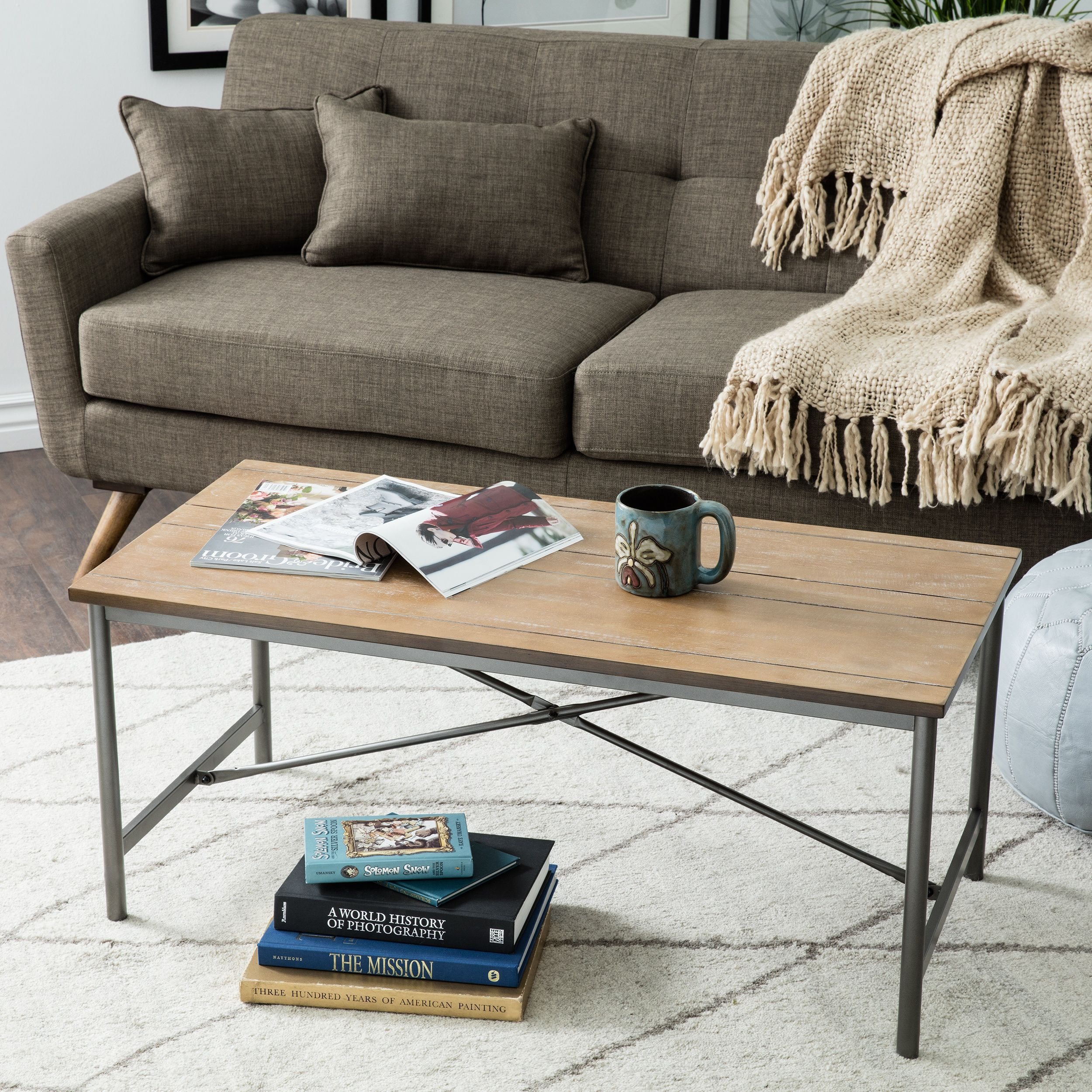 Add This Rustic Grey Coffee Table To Your Living Room, And Make Room For  Entertaining And Relaxing. The Reclaimed Wood Surface Is Naturally  Distressed, ...