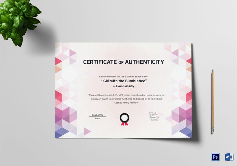 Painting Excellence Certificate Template $999 Formats Included - certificates in word