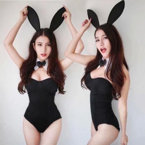 e56a4a405 Sexy Women Lady Police School Uniform Sailor Bunny Rabbit Costume ...