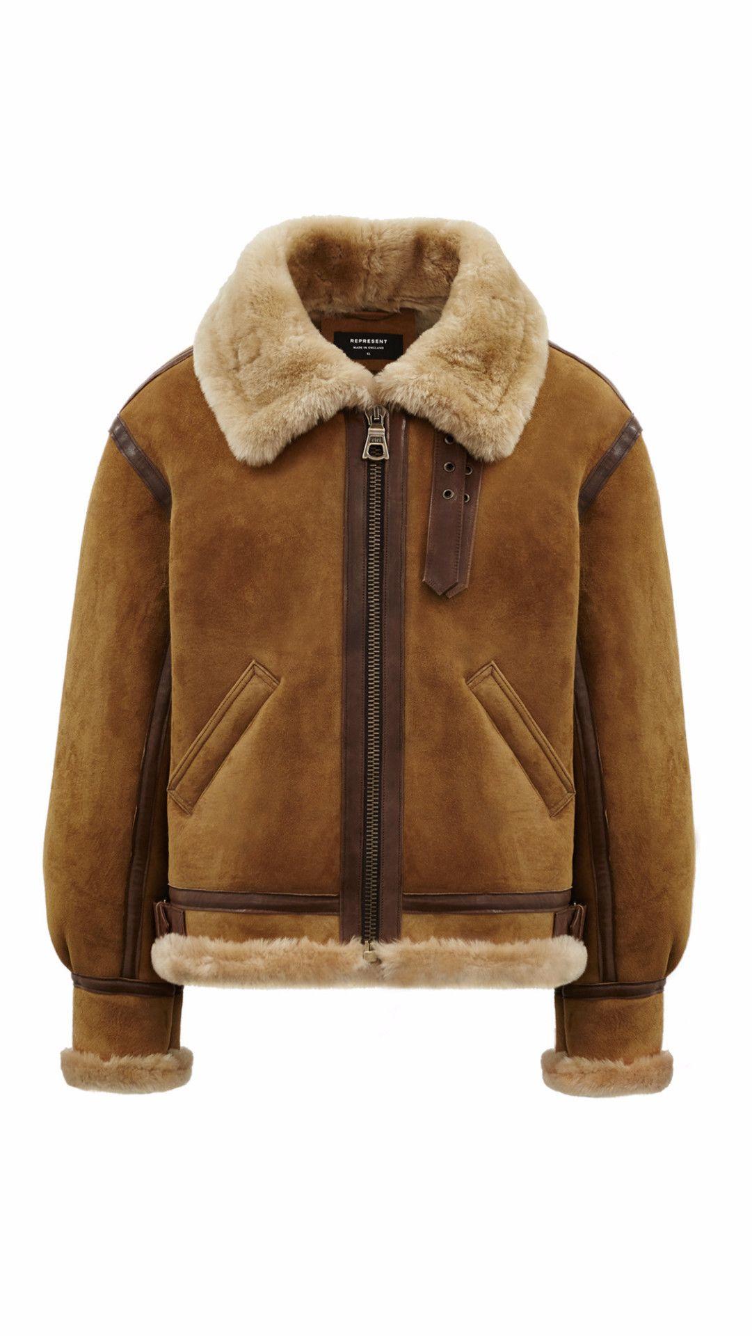 665cdc0ef Shearling Jacket - Antelope REPRESENT | Men In Fur / shearling ...