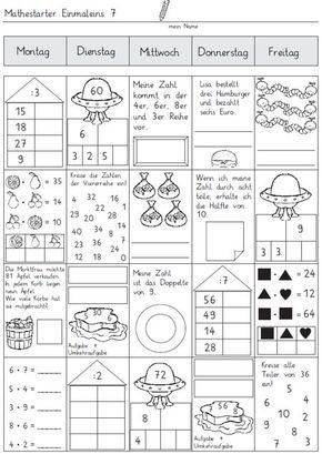 mathestarter 1x1 woche 7 und 8 zaubereinmaleins designblog mathe einmaleins mathe. Black Bedroom Furniture Sets. Home Design Ideas