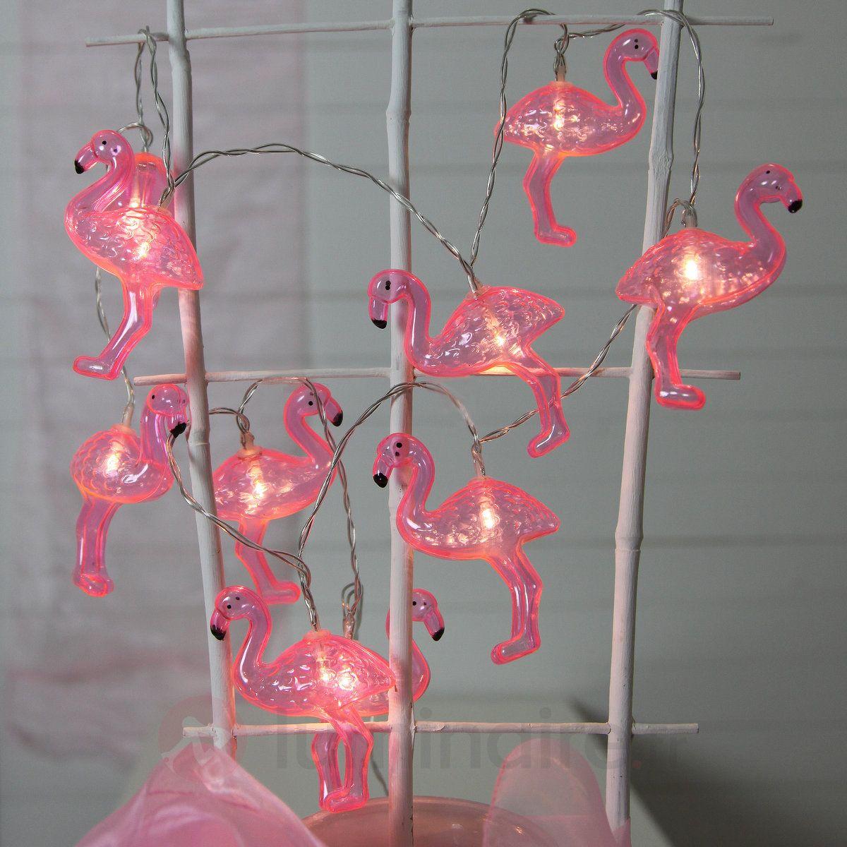 Guirlande Lumineuse Flamant Rose A 10 Lampes Led Guirlande Lumineuse Decoration Lumineuse Lampe Led