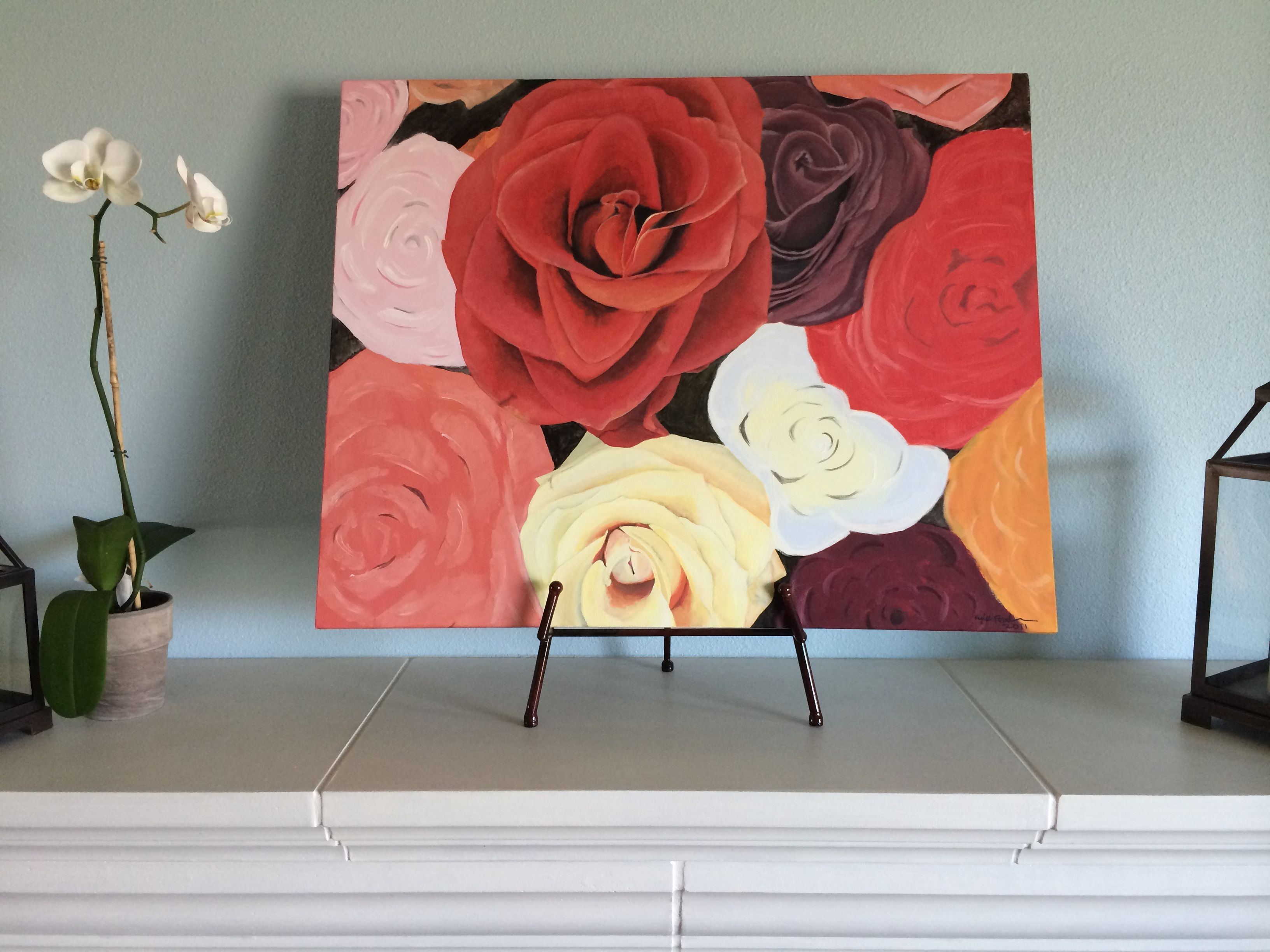 Flowers For Mom painting by Kylee Nicole