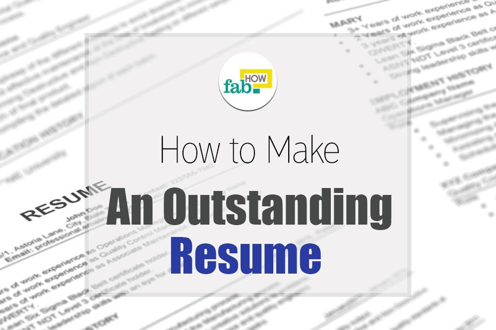 How to Make an Outstanding Resume Resume skills section