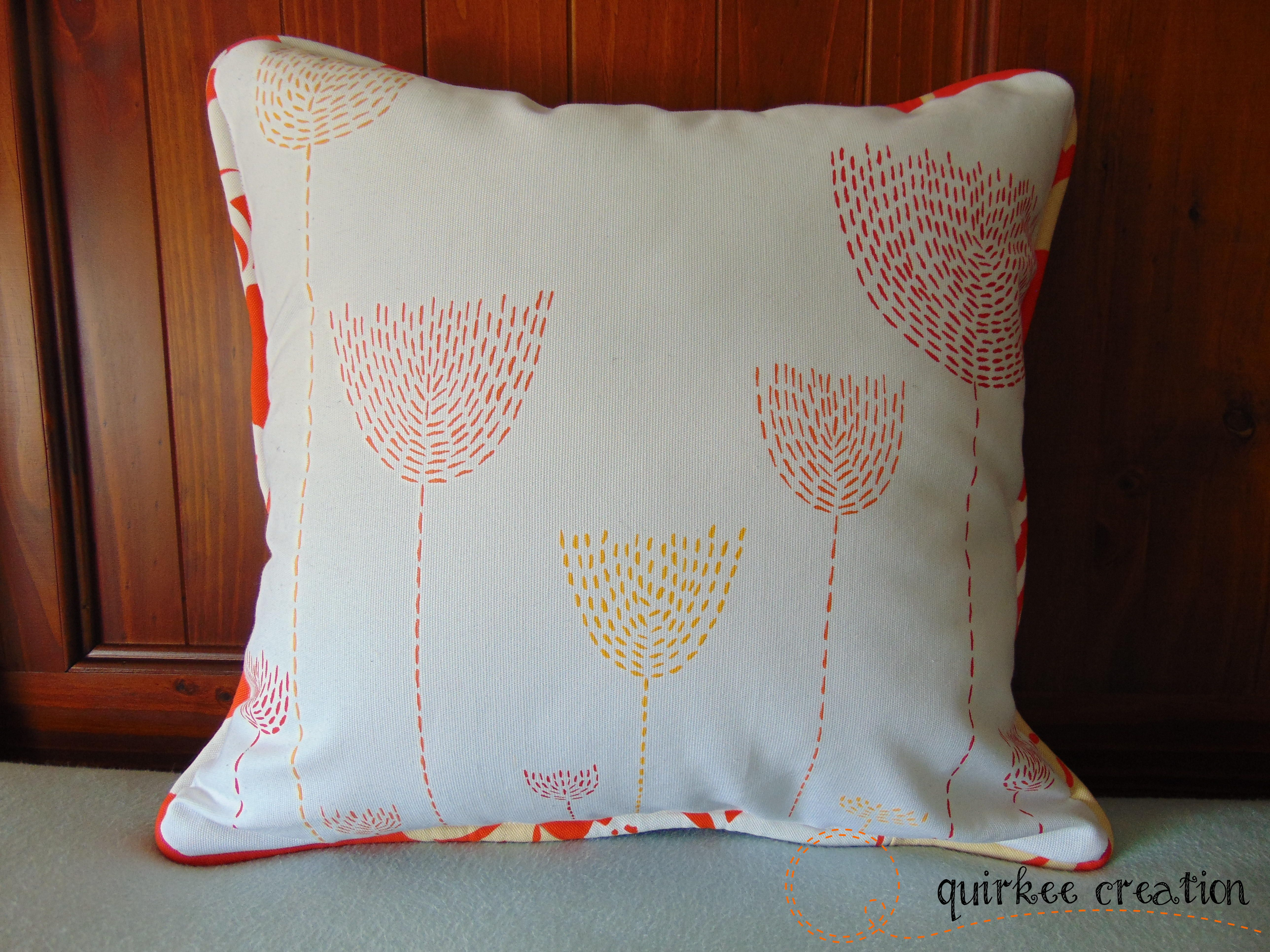 Painted cushion cover by quirkee creation custom cushion covers