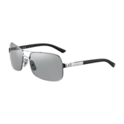 Santos de Cartier rimmed sunglasses Ruthenium finish, metal, gray lenses
