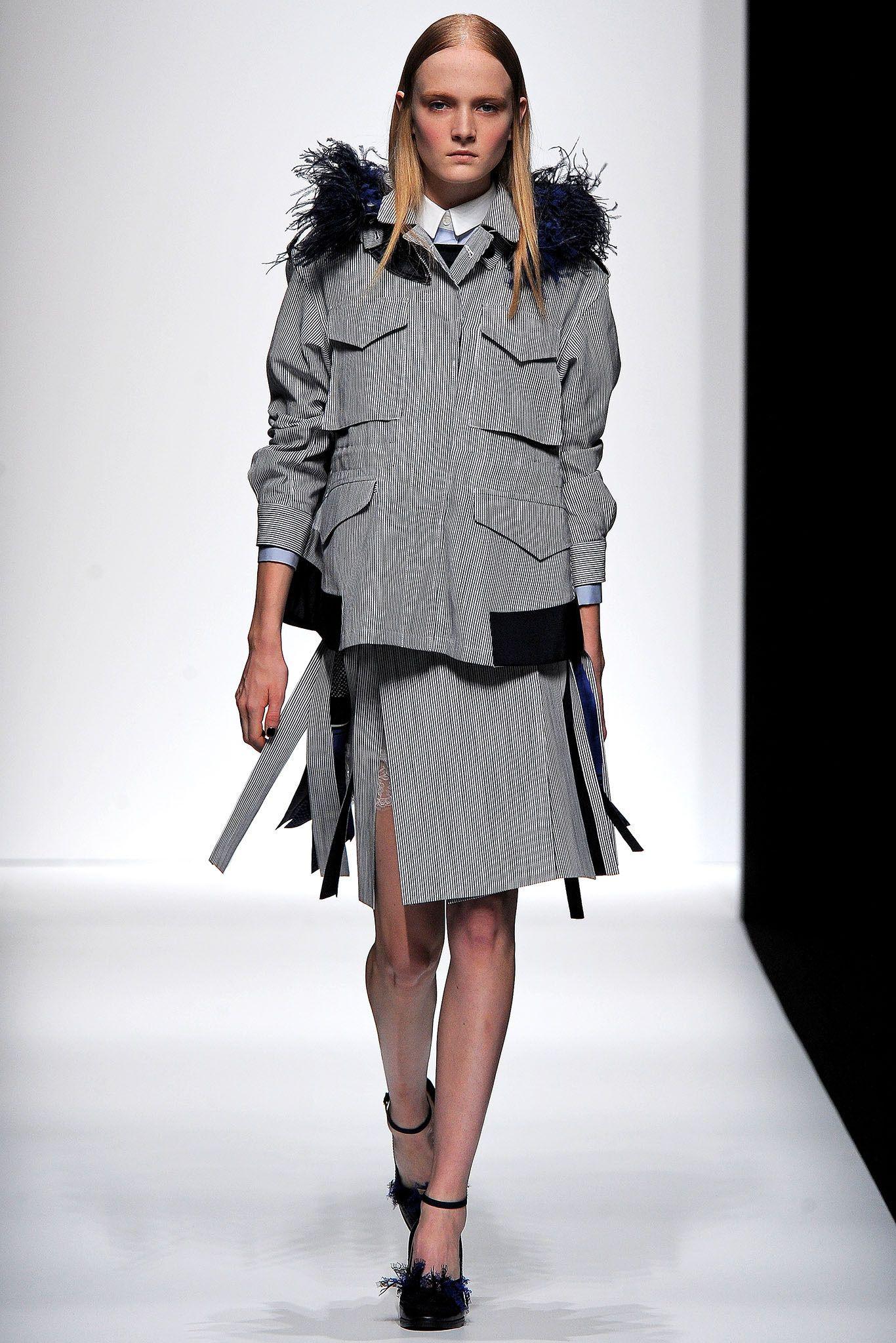 Sacai Spring 2013 Ready-to-Wear Fashion Show - Maja Salamon (Next)