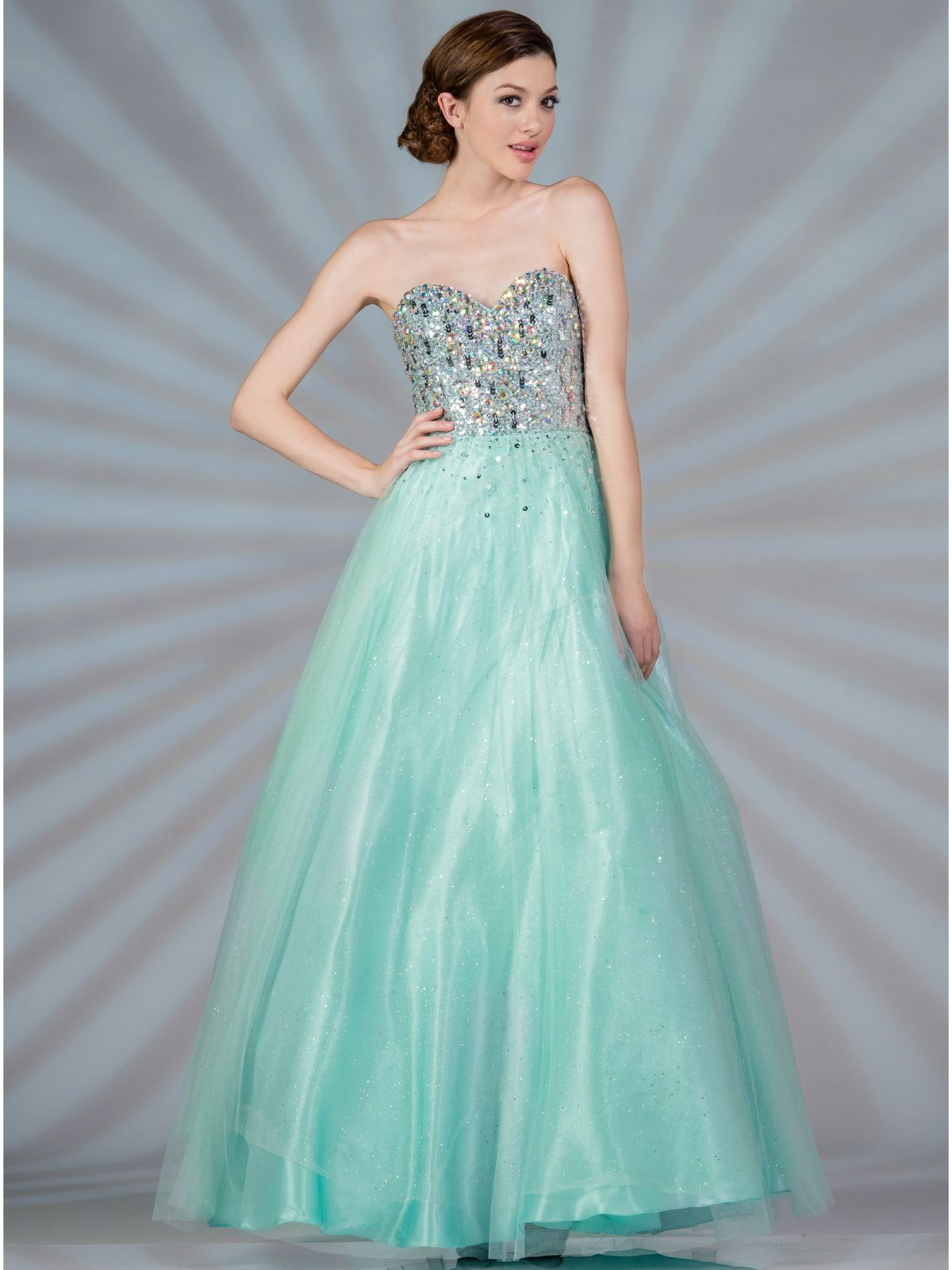 Mint Beaded Fairytale Prom Dress | Clothes | Pinterest | Mint prom ...