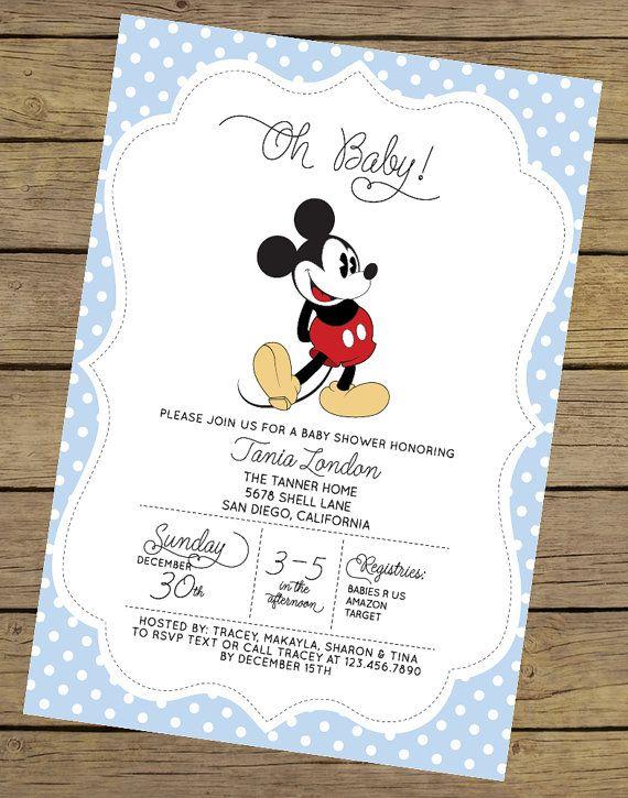 Mickey baby shower invitation mickey baby shower mickey mouse mickey mouse baby shower invitation boy baby by charlesalexdesign filmwisefo