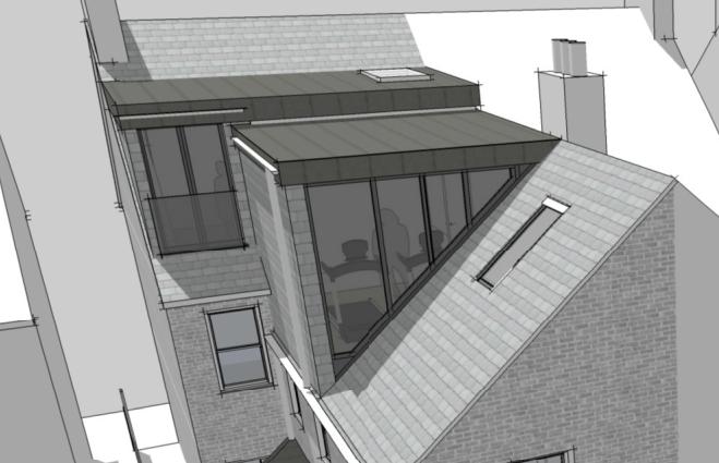Loft Conversions Oxford & South London | Loft Extension Company & Designers. Holland and green. Triangular window. #loftconversions