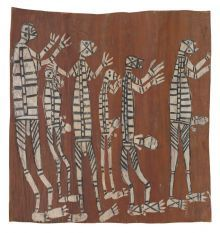 Mimih Spirits, The figures in these paintings are usually referred to as mimih. These are not ancestral orcreator beings but spirits who inhabit the rocky escarpment. Mimih are credited with teaching the Bininj people the arts of living: how to hunt, cook, dance, sing and paint.