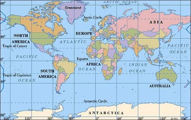 Large Printable World Map New Home 2014 Pinterest - new world map of africa