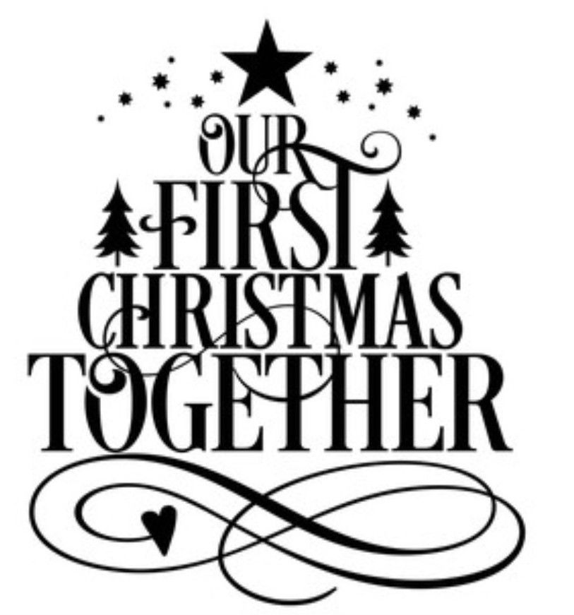 Pin By Cari Tesch On Cricut Christmas Decals Our First Christmas Ornament First Christmas Together Ornament