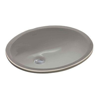 Kohler Caxton 15 X 12 Undermount Bathroom Sink With Clamp Embly Finish