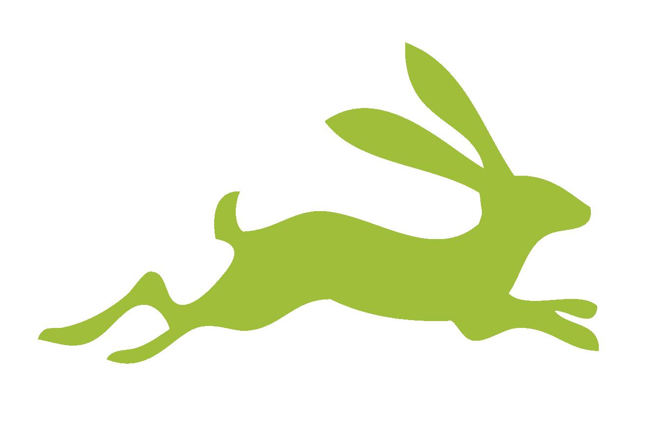 Running Hare Silhouette