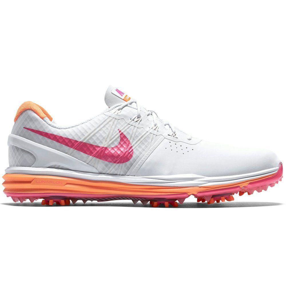 Nike Lunar Control Golf Shoes 2015 Ladies White/Citrus