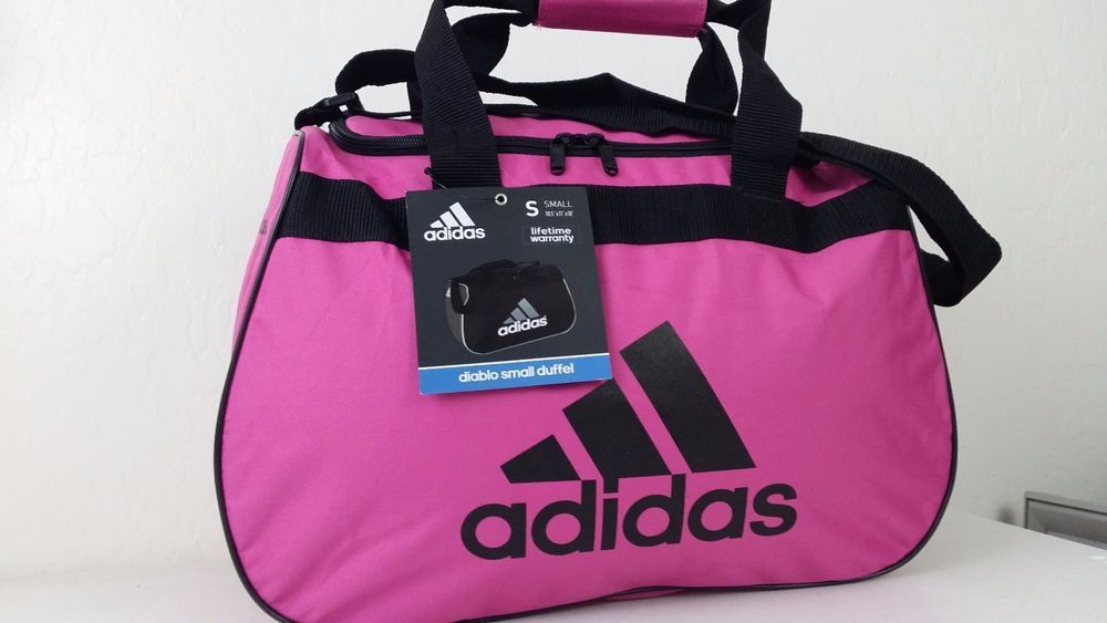 7259dd950fe4 NWT ADIDAS Diablo Small II Duffel Bag Purple Black Sport Gym Travel Carry On   adidas  ebay  adidas  DuffelBag