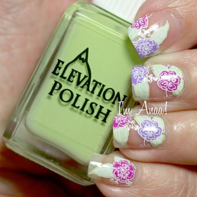Vistoso Calientes Diseños De Uñas De Color Rosa Lindo Composición ...