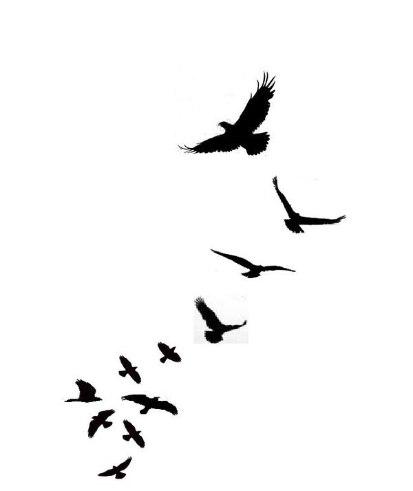 geometric bird - Google Search | Tattoos | Bird silhouette tattoos