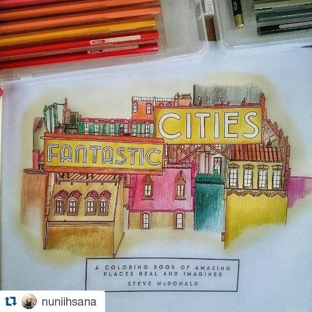 FANTASTIC CITIES Colored By Nuniihsana Thanks For Order Kak