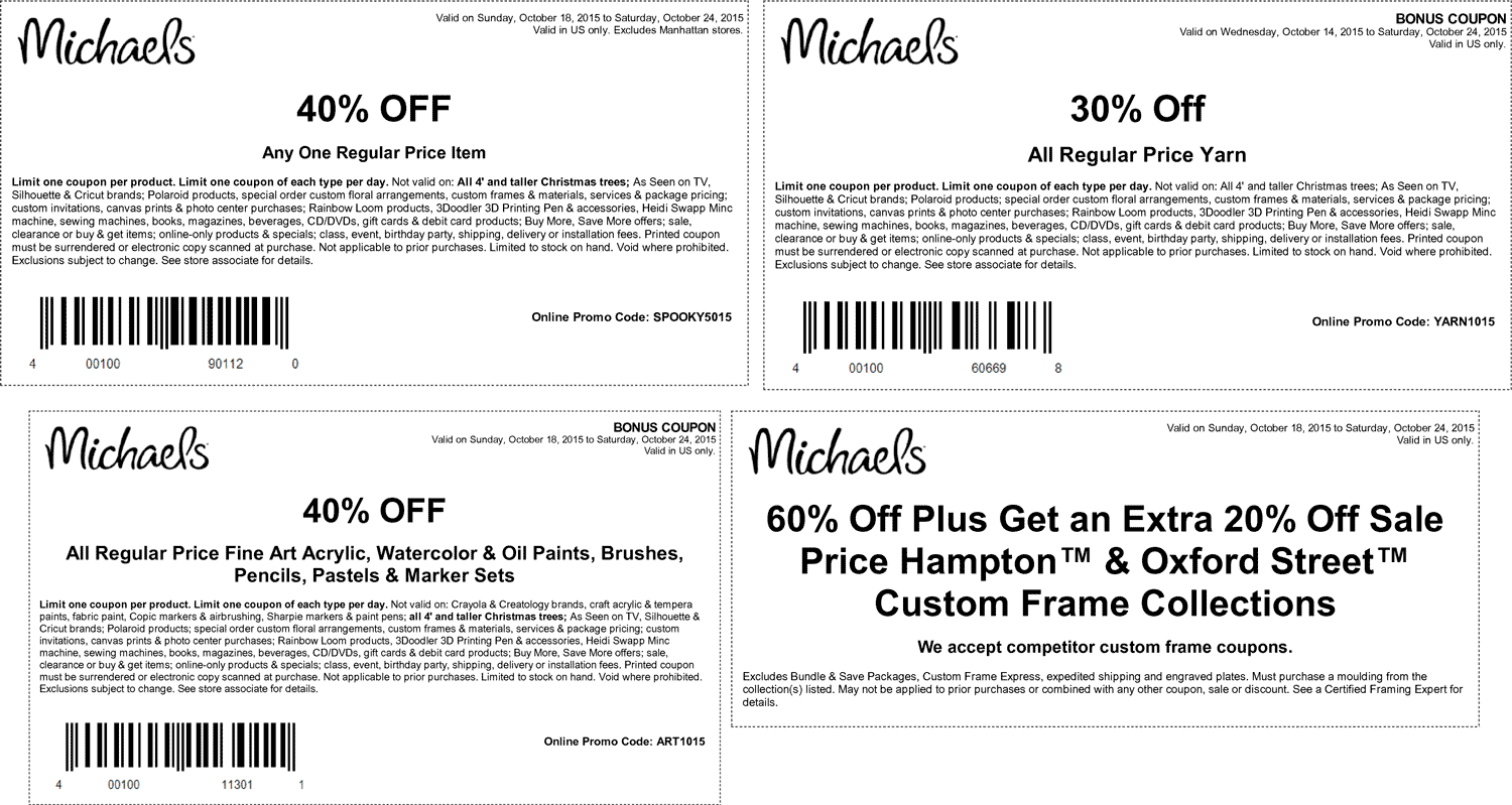 Pinned October 18th: 40% off a single item & more at Michaels or ...