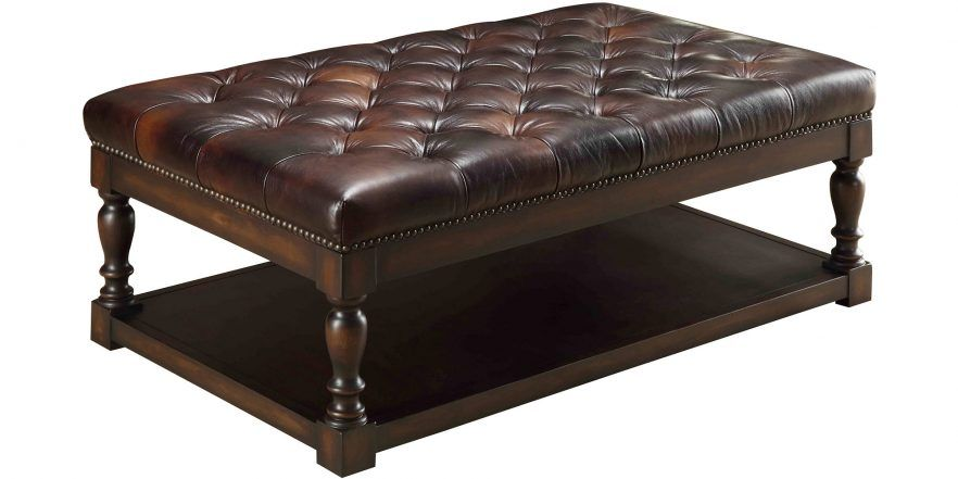 Leather Ottomans Amp Coffee Table Storage Club Furniture